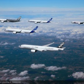 Video: A Spectacular formation flight of the A350 XWB fleet